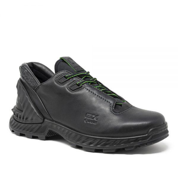 Ecco Exohike M. Premium Black Leather Shoes