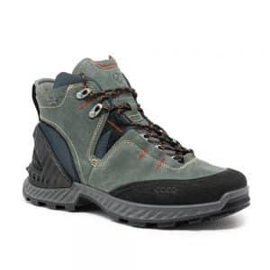 Ecco Exohike M Black / Lake. Premium Leather Shoes