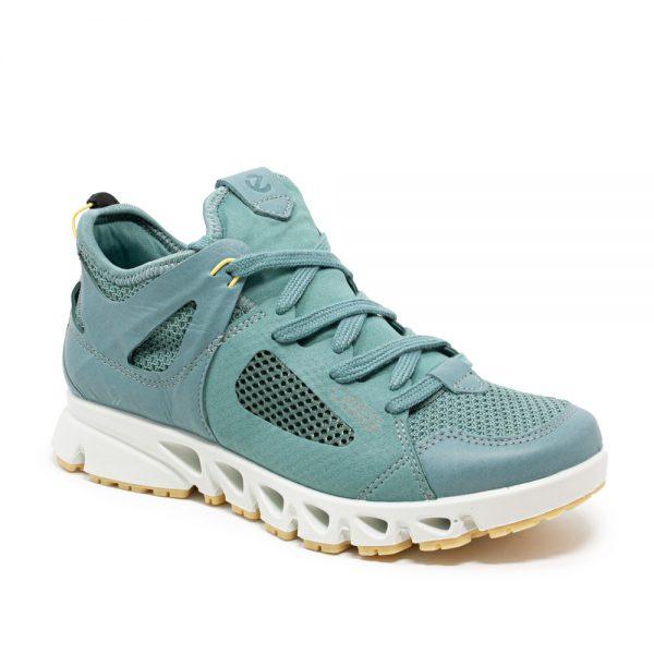 Ecco Omni-Vent W Eggshell Blue. Premium Leather Shoes.