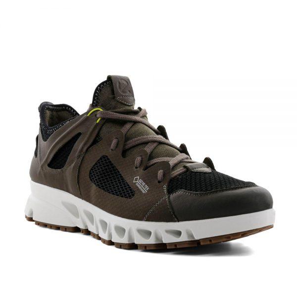 Ecco Omni-Vent M Tarmac / Black. Premium Leather Shoes