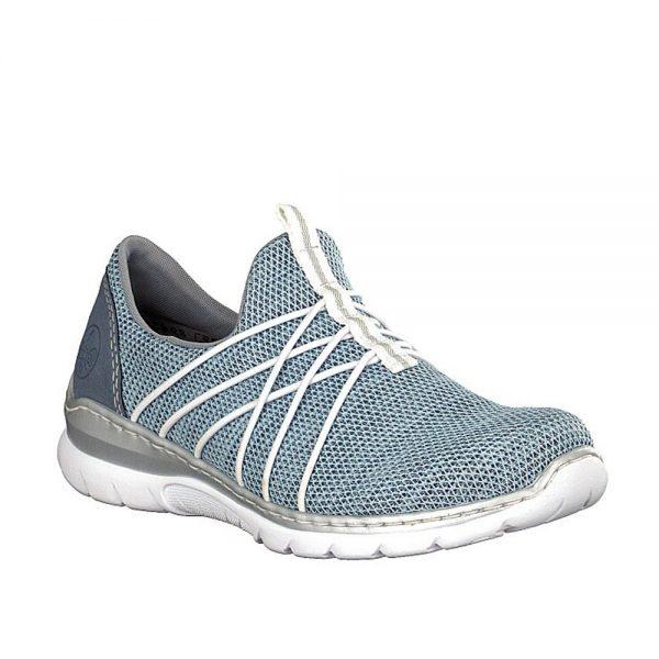 Rieker L32K1-12 Ladies Blue Sneaker's