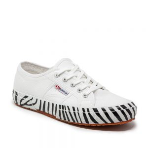 Superga 2750 COTW Printed Foxing White Zebra. Premium Cotton Trainers
