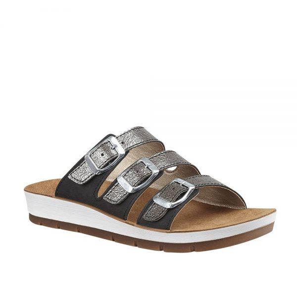 Lotus Turin Black / Pewter Premium Sandals