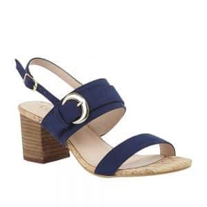 Lotus Almaya Navy Microfibre Sandals. Premium Sandals