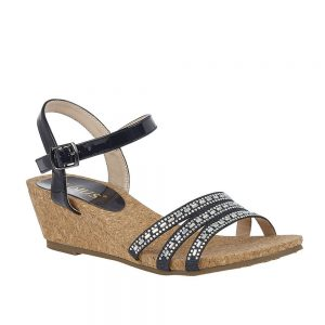 Lotus Mandy Navy Premium Sandals.