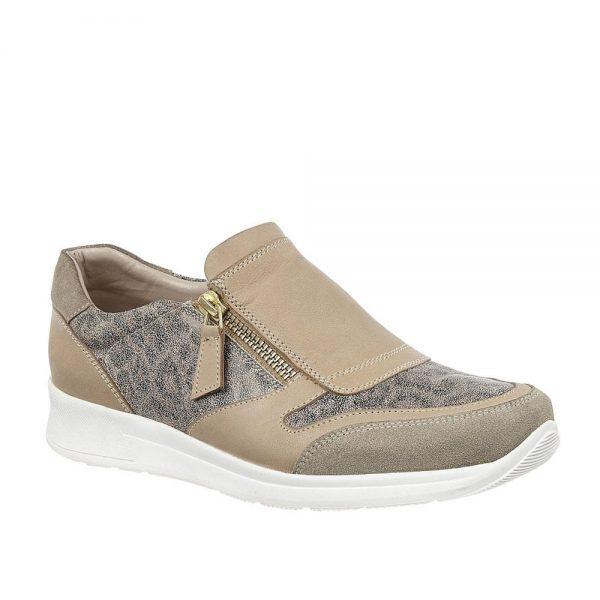 Lotus Alicante Natural & Leopard Print Premium Shoes