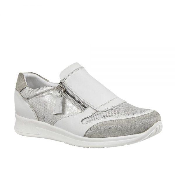 Lotus Alicante White & Snake Print Premium Shoes