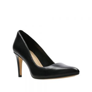 Clarks Laina Rae Black Leather. Premium Leather Shoes