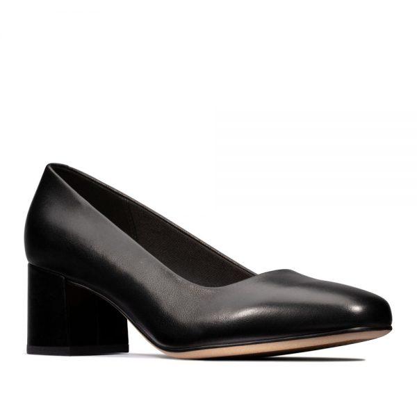 Sheer Rose. Premium Black Leather Shoes