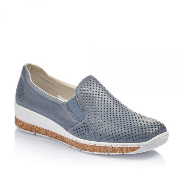 Rieker 59776-10. Premium Blue Shoes