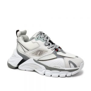 Ash Flex White Sliver Black. Premium Sneakers