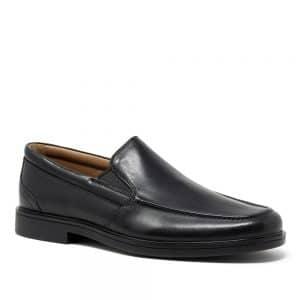 Clarks Un Aldric Slip Black. Premium Shoes