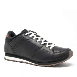 Cat Ventura Base Black. Premium Leather Shoes