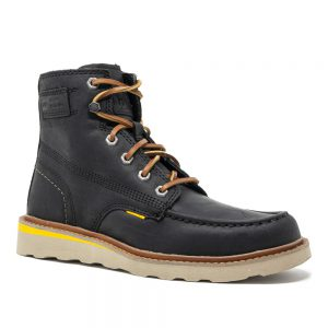 Cat Jackson Moc. Full Grain Black Leather Shoes