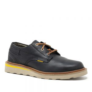 Cat Jackson Low. Full Grain Black Leather Shoes