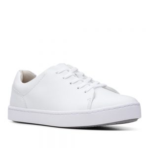 Clarks Pawley Springs White Leather