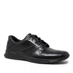 Clarks Un Tynamo Flow Black Leather