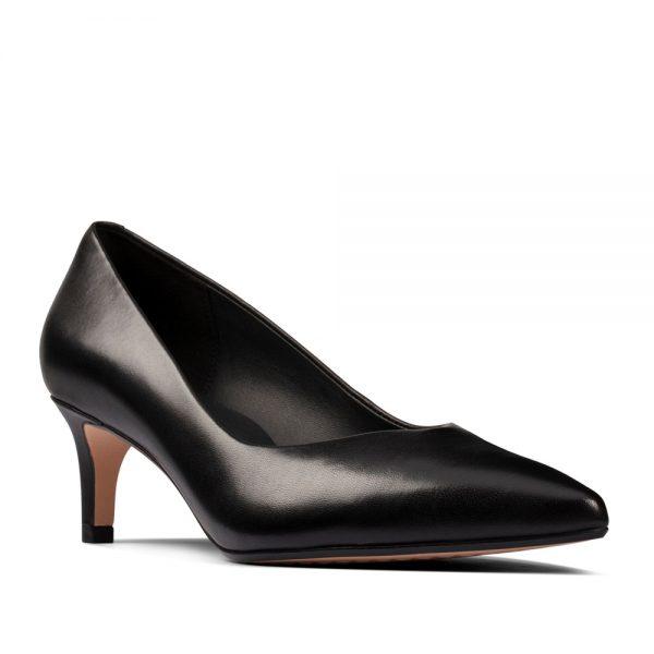 Clarks Laina55 Court2 Black Leather