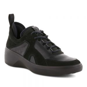 Ecco Soft 7 Wedge Black Yabuck