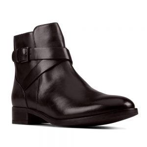 Clarks Hamble Buckle Black Leather