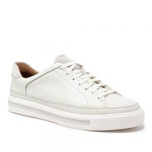 Clarks Un Maui Tie White Leather