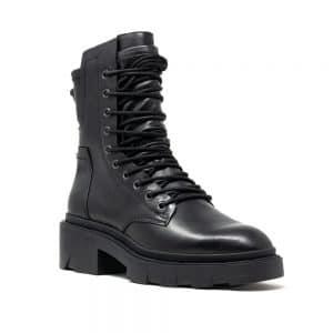 Ash Madness Biker Boots Black Leather