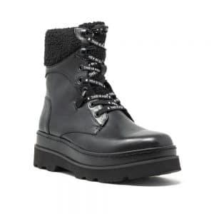 Ash Siberia Shearling Boots Black Leather
