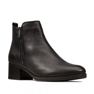 Clarks Mila Sky Black Leather