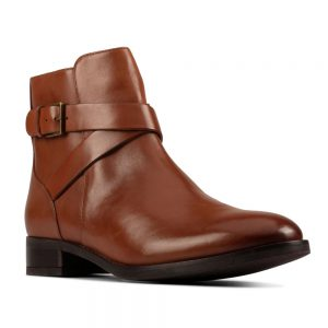 Clarks Hamble Buckle Dark Tan Leather