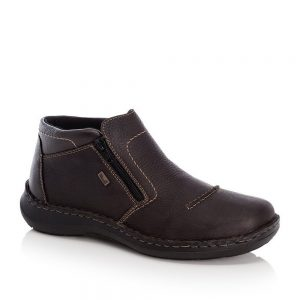 Rieker 03072-25 Men's Brown Zip Up Ankle Boots