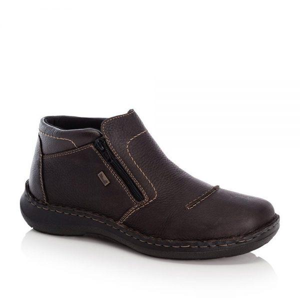 Rieker 03072-25 Men's Brown Zip Up Ankle Boots