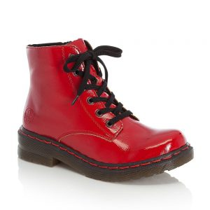 Rieker 76240-33 Red Ladies Boots