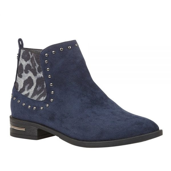 Lotus Lolita Ankle Boots Navy