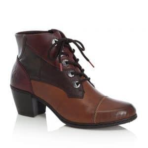 Rieker Y2133-24 Brown Ladies Ankle Boots