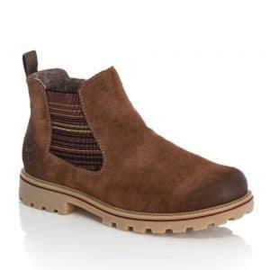 Rieker Z1471-24 Ladies Brown Zip Up Ankle Boots
