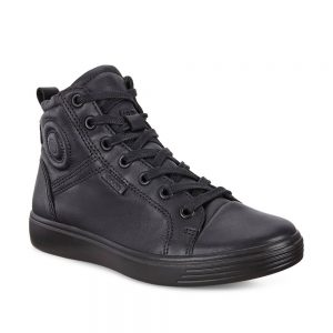 Ecco S7 Teen Black Ankle Boots