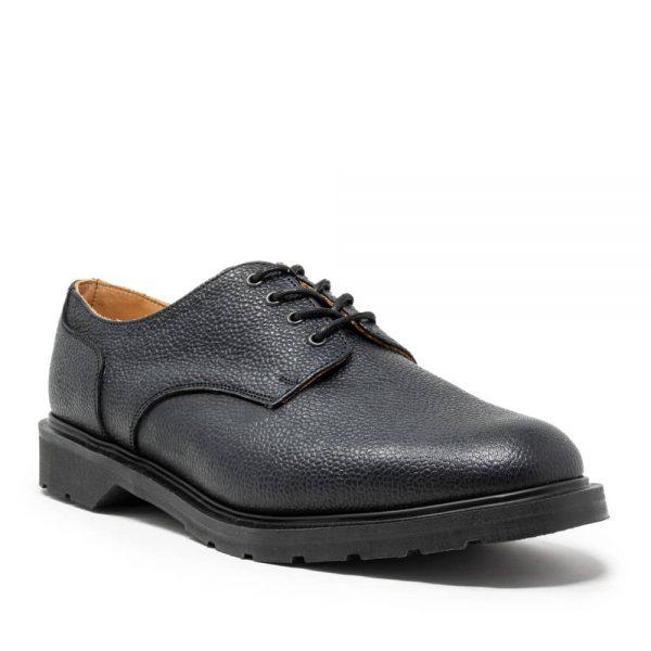 Solovair Black Grain 4 Eye Gibson Shoe