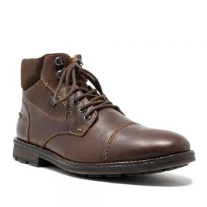 Rieker F5514-26 Men's Brown Zip Up Ankle Boots