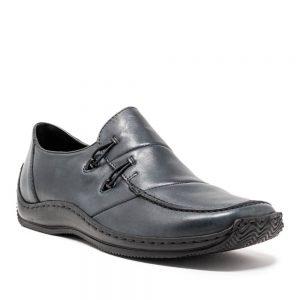 Rieker 53702-14 Rieker 53702-14 Ladies blue shoe with Leather upper