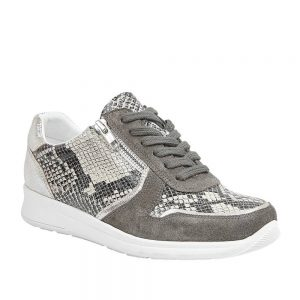 Lotus Shira Grey Suede/Snake Leather