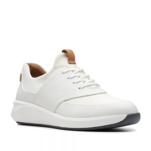 Clarks Un Rio Lace White Leather