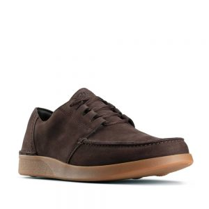 Clarks Oakland Walk Dark Brown Combi