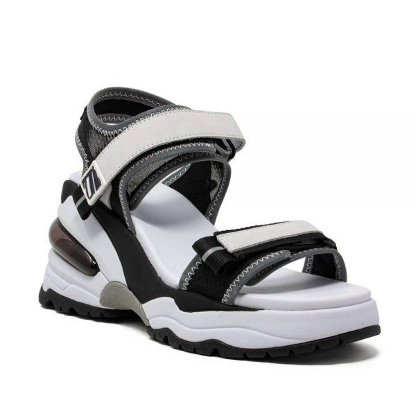 Ash Deep Black Wedge Sandals