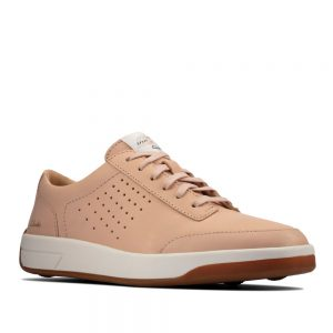 Clarks Hero Air Lace Light Pink. Premium Leather Shoes