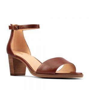 Clarks Kaylin60 2Part Tan Leather. Premium Shoes