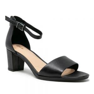 Clarks Kaylin60 2Part Black Leather. Premium Shoes
