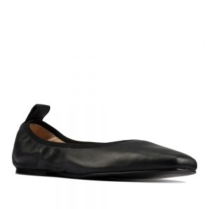 CLARKS Pure Ballet Black. Premium Leather Shoes
