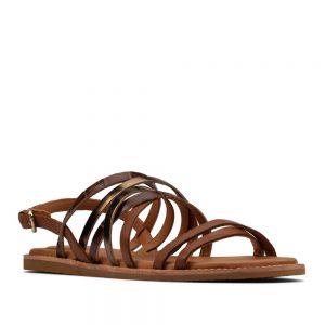 Clarks Karsea Ankle Tan Leather. Premium Sandals