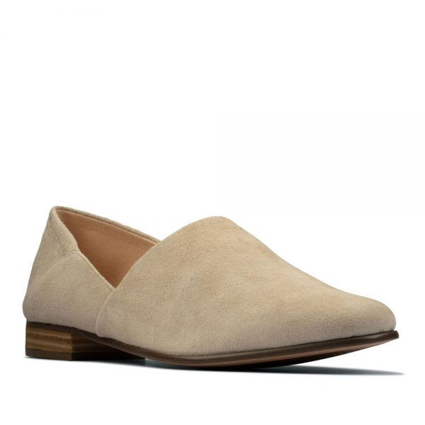 CLARKS Pure Tone Taupe. Premium Leather Shoes