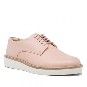 Clarks Baille Stitch Pink. Premium Leather Shoes